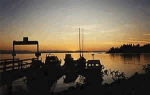 Sunset Lund Harbour - Book your adventure starting right here in Lund.