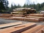 Lumber fills the yard.