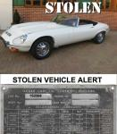 STOLEN VEHICLE ALERT. ENGLAND E-TYPE SER 3 RHD.