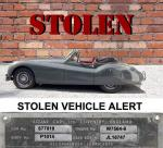 STOLEN VEHICLE ALERT. XK 120 DHC COLORADO USA