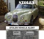 STOLEN VEHICLE ALERT. JAGUAR 3.4L MARK 2. GERMANY stolen at the Techno-Classica Motorshow 2008. More details and photos by clicking on the link below.